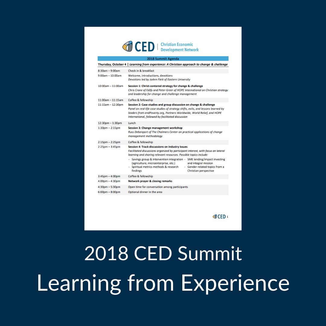 2018 CED Summit Agenda