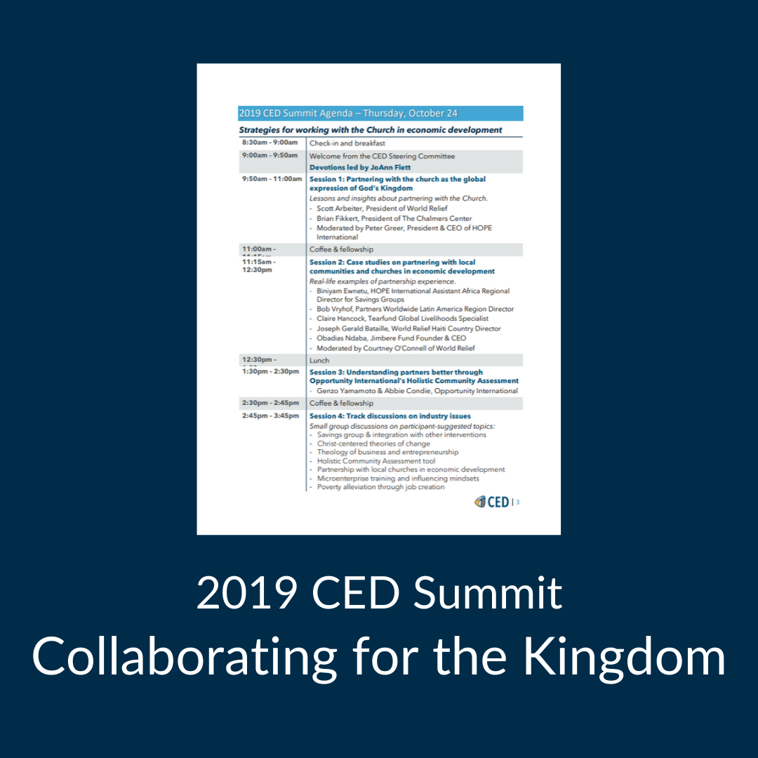 2019 CED Summit Agenda