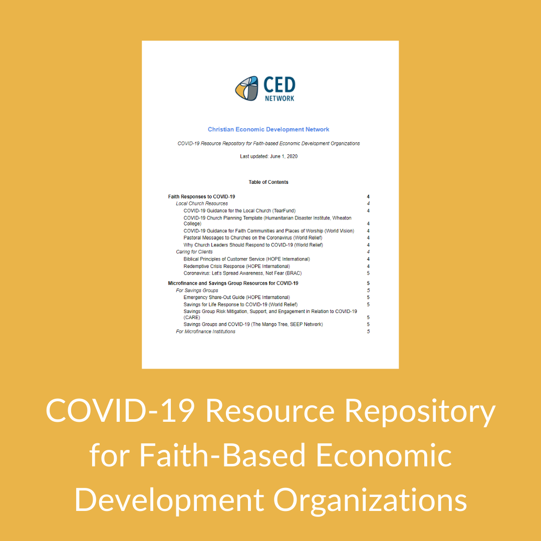 COVID-19 Resource Repository for Faith-Based Organizations
